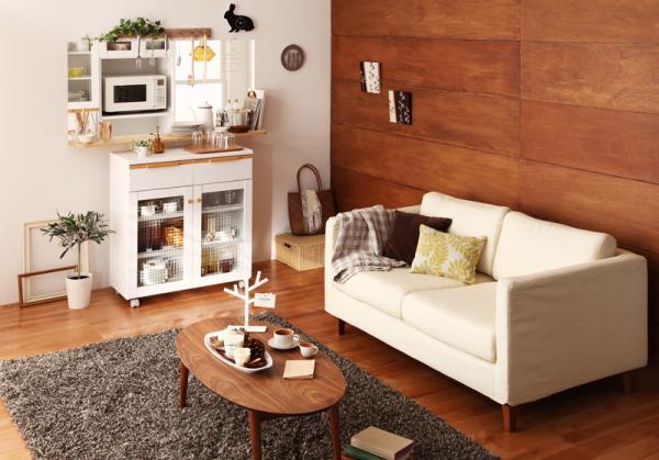 おしゃれリビングコーディネート♡狭い・一人暮らし部屋のポイントのサムネイル画像