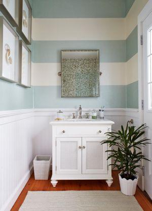 こんな洗面所がいい♪オシャレな壁紙の洗面所で1日をスタート☆のサムネイル画像