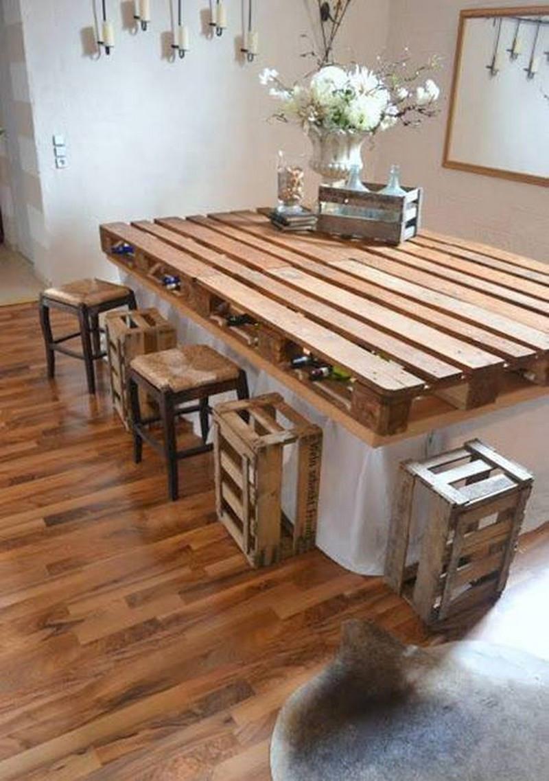 すのこでDIYするおしゃれなテーブルアイディアとその作り方♪のサムネイル画像