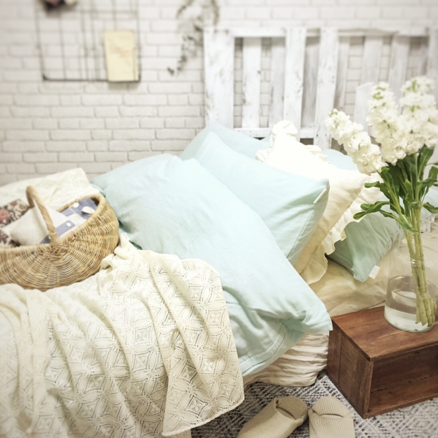 ベッドカバーのセットにこだわってお部屋を可愛く演出したい♪のサムネイル画像