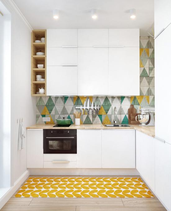 【おしゃれで楽しいキッチンに♪】素敵な北欧風キッチンマット☆のサムネイル画像