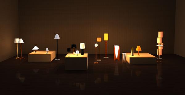 お部屋をおしゃれに演出♡スタンド式の間接照明がかっこいい♡のサムネイル画像