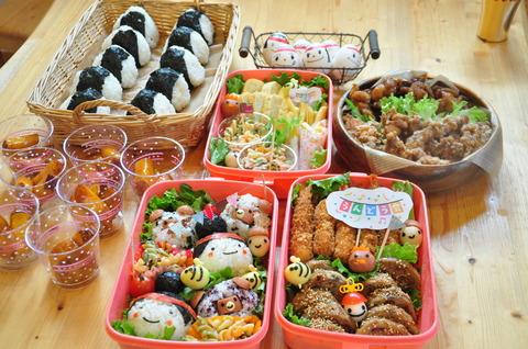 運動会やピクニックに♪♪おすすめの3段お弁当箱でお腹いっぱい♪のサムネイル画像