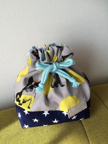 【可愛いお弁当袋でお昼を楽しみに♪】簡単お弁当袋の作り方☆のサムネイル画像