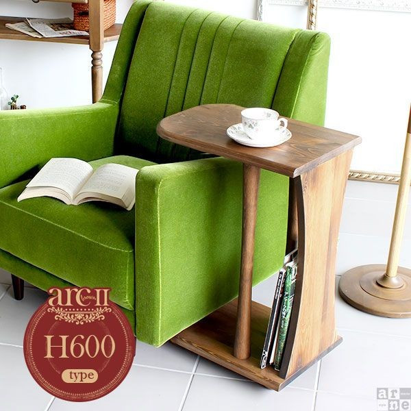 ソファやベッドの近くで大活躍!!おしゃれな木製サイドテーブル♪のサムネイル画像