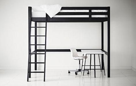 お部屋のスペースを有効利用!ロフトベッド付きのデスクを紹介☆のサムネイル画像