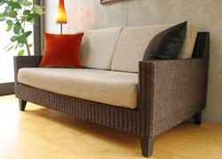 アジアンな魅力♪ラタンのソファでワンランク上のくつろぎを✩のサムネイル画像