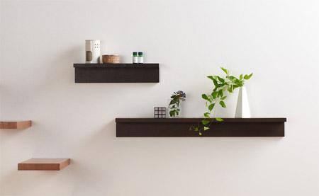 使える、おしゃれ、アレンジ自在!壁に直接つける飾り棚インテリアのサムネイル画像