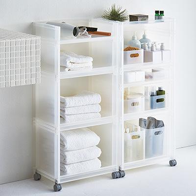 洗面所、もうゴチャゴチャさせない!使いやすく見た目も美しい収納棚のサムネイル画像