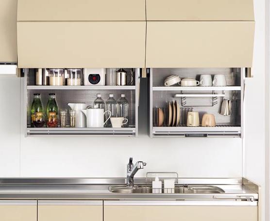 キッチンのポイント吊り戸棚。おしゃれで機能的に使いたい方必見!のサムネイル画像