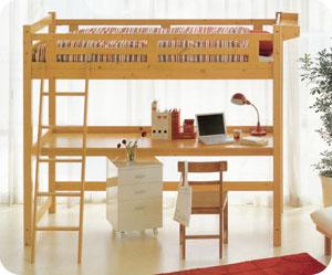 机付ベッドって便利で省スペースだけど収納たくさんの使える家具!のサムネイル画像