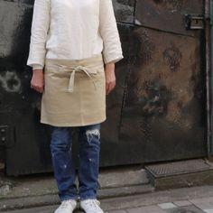 ナチュラル感と肌心地が最高!麻(リネン)素材のエプロン☆のサムネイル画像