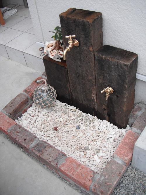 立水栓&水受けをdiy☆ガーデニングをもっと楽しくしましょう♡のサムネイル画像