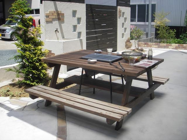 【diy初心者必見】ガーデンテーブルの作り方@設計図が不要!?のサムネイル画像