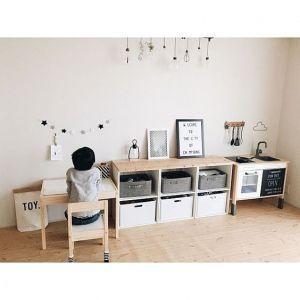 【どうすればいい…?】子供部屋のオシャレな家具配置例20選♪の画像