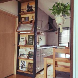 一石二鳥の大活躍♡間仕切りに使える収納家具を活用しよう!の画像